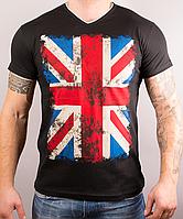 Прикольная мужская футболка ФЛАГ хорошего качества