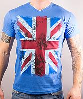 """Модная мужская футболка """"ФЛАГ"""" хорошего качества"""