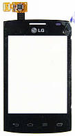 Тачскрин (сенсор) LG E410 Optimus L1 II ORIG, black (чёрный)