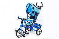 Велосипед трёхколёсный «TURBOTRIKE» c родительской ручкой (голубой) M 5363-1, фото 1
