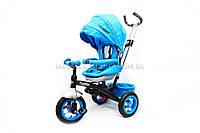 Велосипед трёхколёсный «TURBOTRIKE» c родительской ручкой (голубой) M 3195-4A, фото 1