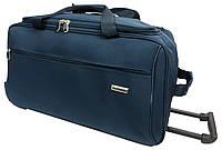 Большая дорожная сумка на колесах 90 л. Gravitt 19563 navy, синий