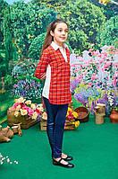 Детская блузка-рубашка для девочки-подростка р.36-44