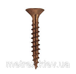 Шуруп декоративный 2.5х20 мм бронзовый FRIULSIDER, 500 шт.