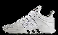 Женские кроссовки Adidas EQT Support ADV White Grey (Адидас) белые/серые