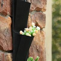 Вертикальный сад 4 кармана 65*26 см черный Вертикальное озеленение висячие сады фитостена сад дизайн