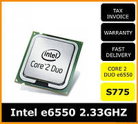 Процессор E6550 Intel Core 2 Duo  2,33 GHZ/4M/1333 + термопаста в ПОДАРОК