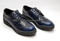 Женские туфли- броги на толстой подошве, лак Blink, 36, 40 размер