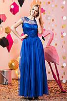 Вечернее платье в пол с многослойной юбкой