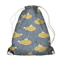 Детский рюкзак мешок с принтом Подводная лодка