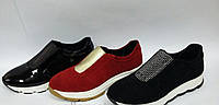Спортивные женские туфли из натуральной кожи и замши
