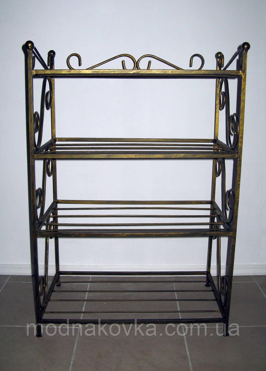 Кованая полка (этажерка) для обуви 4