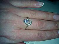 Кольцо с камнем циркон под аметист 925 пр..