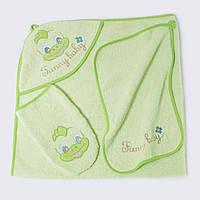 Детское полотенце с капюшоном, набор для купания. Хлопок- Махра 3110K&G.90x90см.