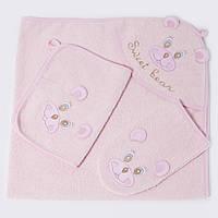 Детские полотенца, набор для купания. Хлопок- Махра 3110K&G.90x90см.