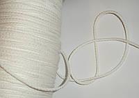Шнур хлопковый 4мм диаметр белый