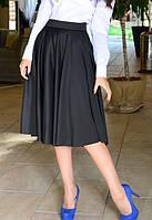 Нарядная женская юбка миди черного цвета b-t6111193