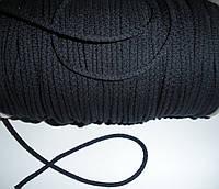 Шнур хлопковый 4мм диаметр черный