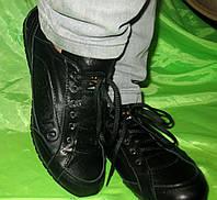 Женские спортивные кожаные кроссовки-туфли