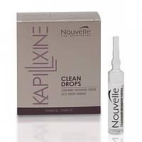 NOUVELLE Golden Drops - Средство для жирных волос с экстрактом крапивы в ампулах