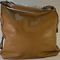 Женская сумка на плечо бежевогоо цвета из кожзама INT.COMPANY HO-0115