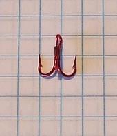 Крючок рыболовный тройной Eagle Claw №14 красный с укороченым цевьем