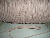 Шнур хлопковый, 6мм диаметр, светло-розовый