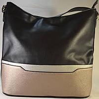 Женская сумка-мешок комбинированная из кожзама SARA MODA 6443