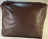 Женская коричневая сумка-мешок 71