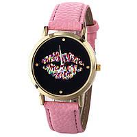 Оригинальные модные женские часы Lip,розовые