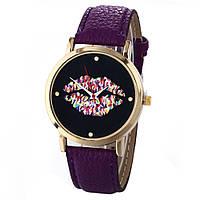 Оригинальные модные женские часы Lips, фиолетовые