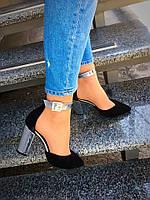 Женские шикарные замшевые туфли Olimpia
