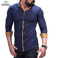 Мужская темно-синяя рубашка , фото 1