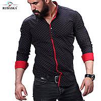 Стильная мужская рубашка в черном цвете, фото 1