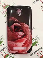 Чехол для HTC Desire 500 (Роза)