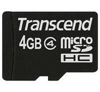 Карта памяти microSD Transcend 4 GB class 4