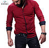 Рубашка мужская в красном цвете