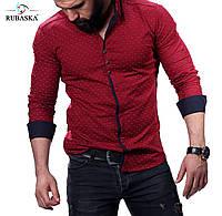 Рубашка мужская в красном цвете, фото 1