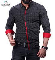 Черная рубашка с красным акцентом, фото 1