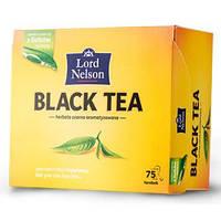 """Черный чай """"Lord Nelson"""" 75 пакетов"""