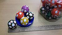 """Мячик-попрыгунчик  """"Цветной далматинец"""" большого размера."""