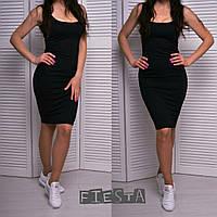 Женское летнее облегающее платье с декольте в разных цветах