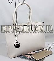 Женская светло-бежевая  повседневная сумка