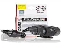 Удлинитель c тройной розеткой и USB прикуривателя 1м, 12/ 24 В, 10А/ Heyner 511300