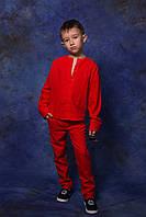 Комплект: рубашка и брюки на мальчика, 116 - 146 см. Лён. Детский, подростковый костюм.