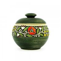 Керамика Веночек Горшочек 14*14 см зелёный