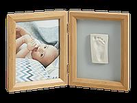 Набор для создания отпечатка ручки или ножки + фоторамка My Baby Touch Wooden Frame, Baby Art