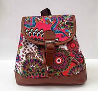 Рюкзак подростковый для девочки цветочный принт