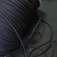 Шнур хлопковый 4мм диаметр, темно-синий