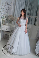Свадебное платье лодочка айвори